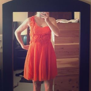 Orange Bebe cocktail dress